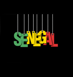 The word senegal hang on the ropes vector