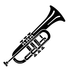 Trumpet icon simple style vector