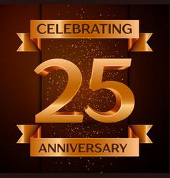 twenty five years anniversary celebration design vector image