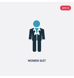 Two color women suit icon from people concept vector