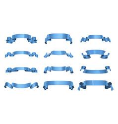 variety cute ribbons set vector image
