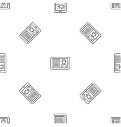 Video conference pattern seamless vector