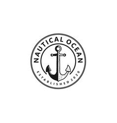 Vintage anchor logos cruise ship trips nautical vector