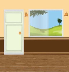 Wall windows door vector