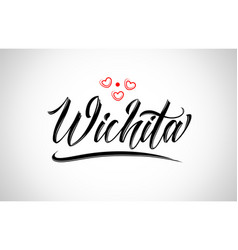 Wichita city design typography with red heart vector