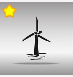 wind turbines afloat vector image