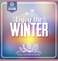 Winter poster vector