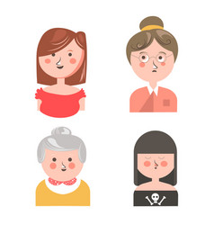 Women from different generations isolated funny vector