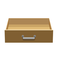 Wooden drawer iconcartoon icon vector