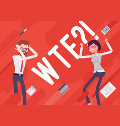 Wtf business demotivation poster vector