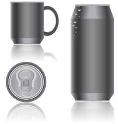 aluminum packaging vector image
