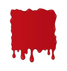 blood splash or drop vector image