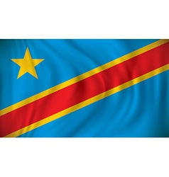 Flag of Democratic Republic of the Congo vector image