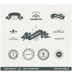 labels retro 2 vector image