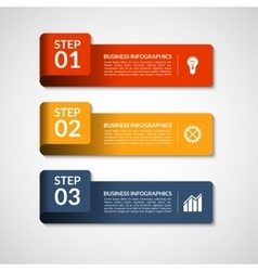 number banners template for infographics vector image