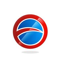 round circle loop business logo vector image vector image
