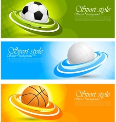 Set of banners with balls vector image vector image