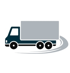 sign with shipping truck vector image