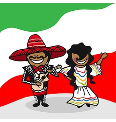 Welcome to Mexico people vector image vector image