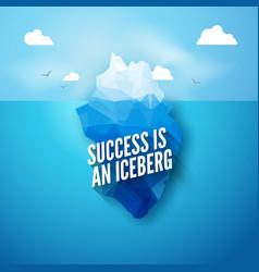 3d iceberg concept Success vector image