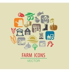 farm icon set vector image