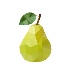 green pear in polygonal style vector image vector image