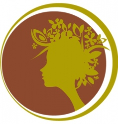 head silhouette vector image vector image