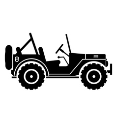 Jeep silhouette vector image vector image