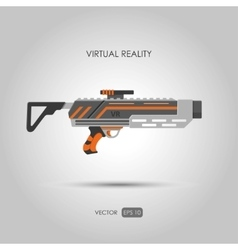 Missile Gun for virtual reality system vector image vector image