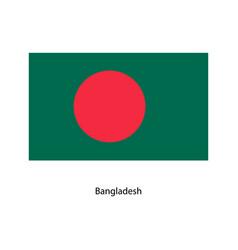 original and simple bangladesh flag vector image vector image