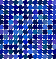 Blue angular square pattern design background vector image