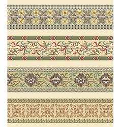 Set of four decorative borders ornamental vector image vector image
