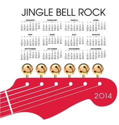 2014 Gingle Bell Rock Calendar vector image