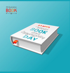 3d book layout for world vector image