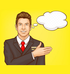 airline steward flight attendant portrait vector image