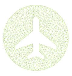 Airplane ok polygonal frame mesh vector