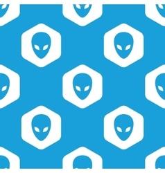 Alien hexagon pattern vector