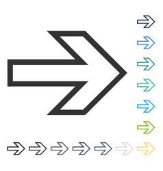 arrow right icon vector image