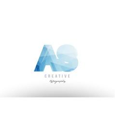 as a s blue polygonal alphabet letter logo icon vector image
