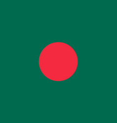 Bangladesh national flag with official colors vector