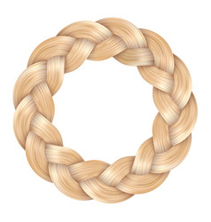 Beautiful blonde pigtail ring curly wavy vector