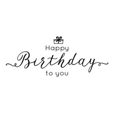 birthday lettering inscription calligraphy design vector image