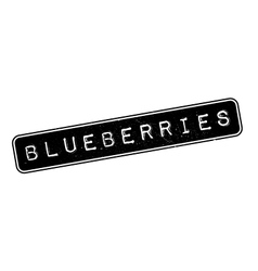 Blueberries rubber stamp vector