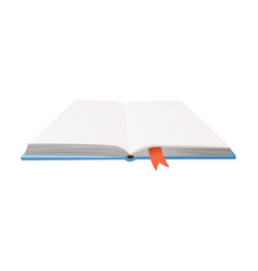 Book with bookmark learning or education vector
