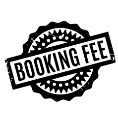 Booking Fee rubber stamp vector