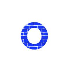 Brick logo letter o vector