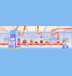 candy factory chocolate production manufacture vector image