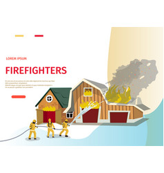 cartoon concept firefighter vector image
