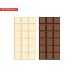 chocolate bar and white chocolate bar vector image