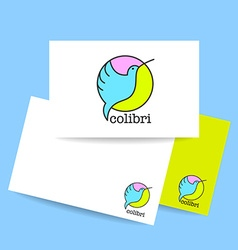 colibri bird sign vector image